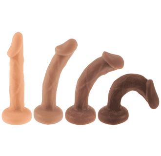 SHILO STRAP-ON DILDO PACKER PACKING FTM SEX TOY SILICONE REALISITIC PENIS SKIN TONES